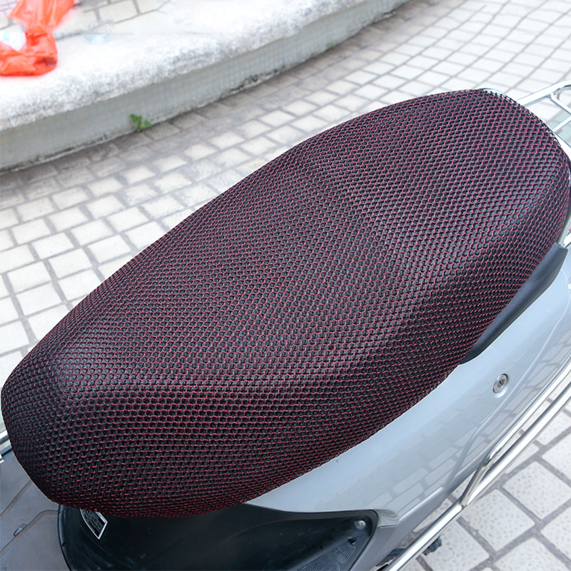 XL  New Breathable Summer 3D Mesh Motorcycle Seat Cover Sunscreen Anti Slip Waterproof Heat insulation Cushion protect Net Cover|Seat Covers| |  - title=