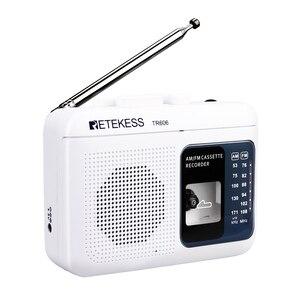 Image 2 - Retekess TR 606 נייד רדיו קלטת רדיו FM AM מגנטי קלטת קלטת השמעת קול מקליט 48cm אנטנת 3.5mm מיקרופון