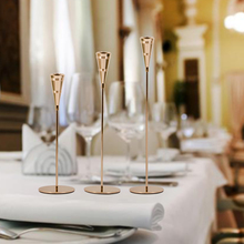 Candle-Holders Home-Decoration Table Silver-Stand Wedding-Party-Holder Metal Gold Luxury
