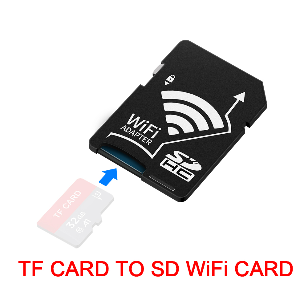 Rocketek Micro SD TF to CF/SD Wifi Memory Card Reader Converter Adapter MicroSD SDHC to Compact Flash Type I 3
