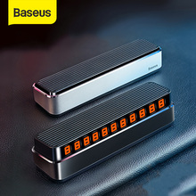 Baseus Car Temporary Parking Card Telephone Number Holder Auto Park Mobile Phone Number Plate Car Numbers Stickers