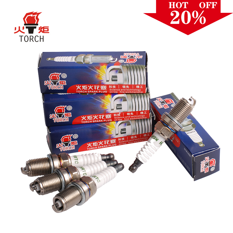 4pcs/lot China original TORCH Iridium U groove spark plug K6RIU for GEELY bl/ck/emgrand 7/emgrand ec7/gc6/mk/mk cross/mr ,etc.