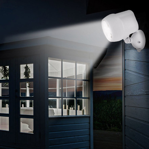 4 leds sensor de movimento luz ip65