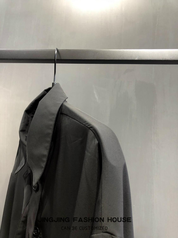 Ruban Design noir homme pioneer ruban déconstruit chemise à manches longues chemise ample - 4