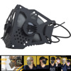 Tactical Airsoft Paintball Mask With Replaceable Filter Mask  Army Tactical Half Face Butterfly Shape Protection Mask