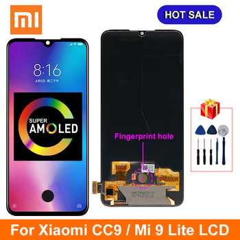 Super AMOLED For Xiaomi Mi CC9 LCD MI 9 Lite Display Touch Screen Digitizer Replacements Parts For MI CC9 Display