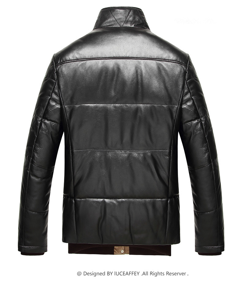 Leather Jacket Winter Jacket Genuine Sheepskin Duck Down Jackets Mens Streetwear Coat Doudoune Homme LSY070032 MY1364