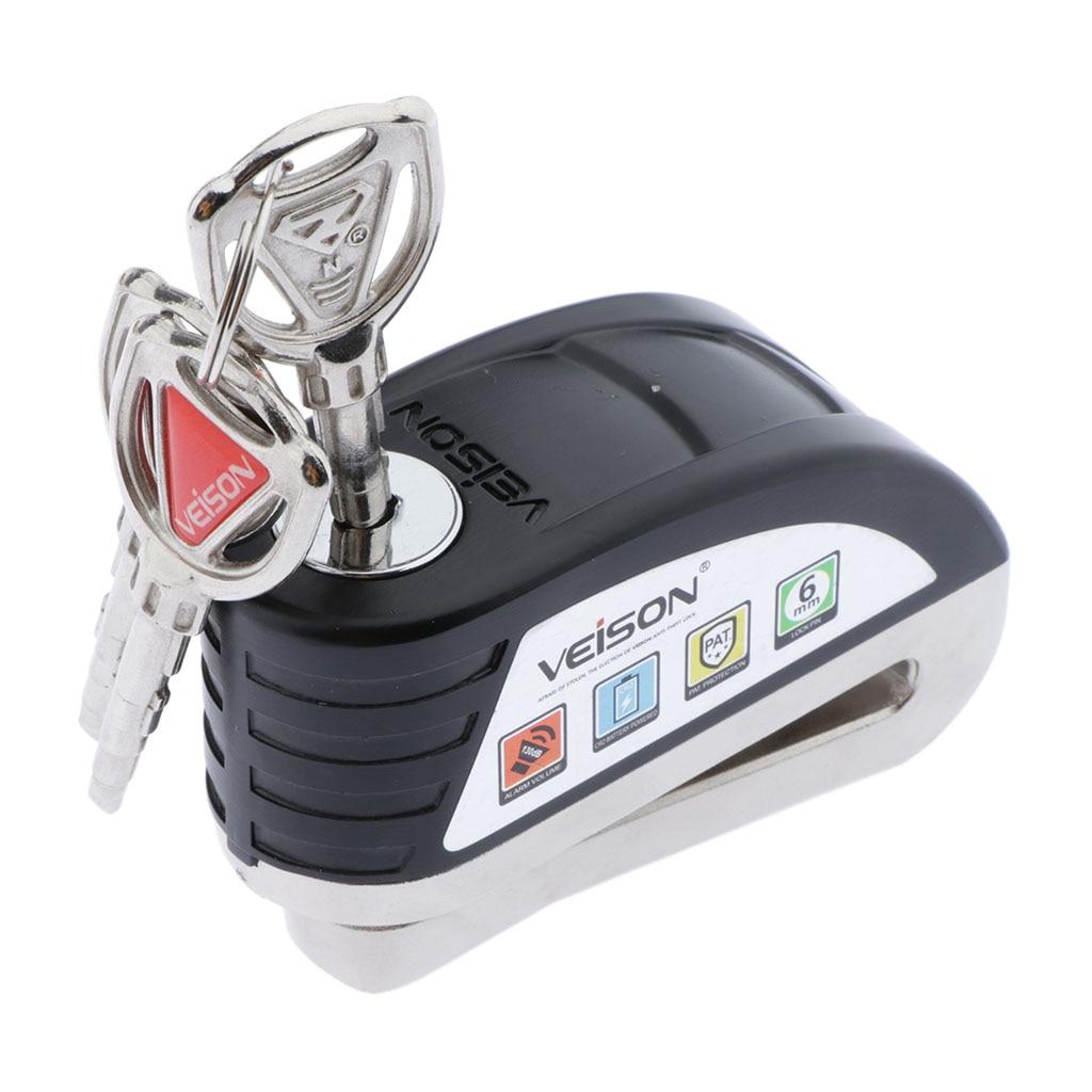 Motorcycle Scooter Bicycle Anti-theft Wheel Disc Brake Lock Security Alarm
