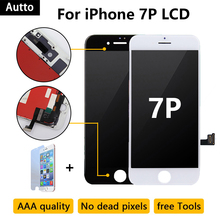 цена на 2pcs AAA+++ Quality No Dead Pixel Display for iPhone 7 Plus LCD Replacement with 3D Touch Screen Free Shipping DHL