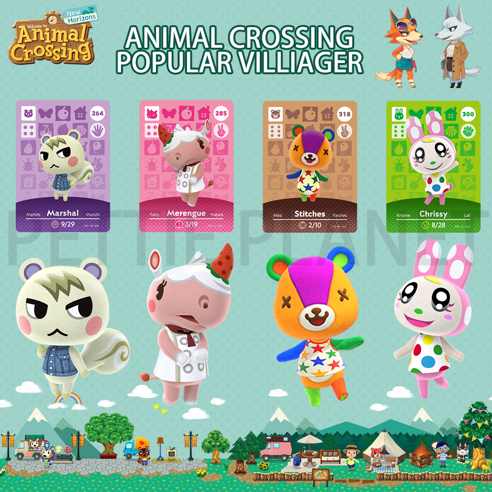 Hot Animal Crossing New Horizons Amiibo Card For NS Switch 3DS Game Lobo Card Set NFC Cards Hot Villager Marshal Series 1 2 3 4