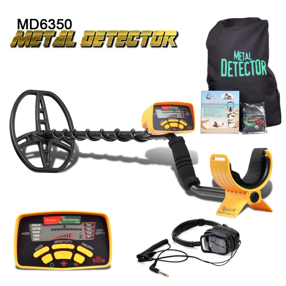 Underground Metal Detector Professional MD6350 Gold Digger Treasure Hunter MD6250 Updated MD 6350 Pinpointer LCD Display-in Industrial Metal Detectors from Tools