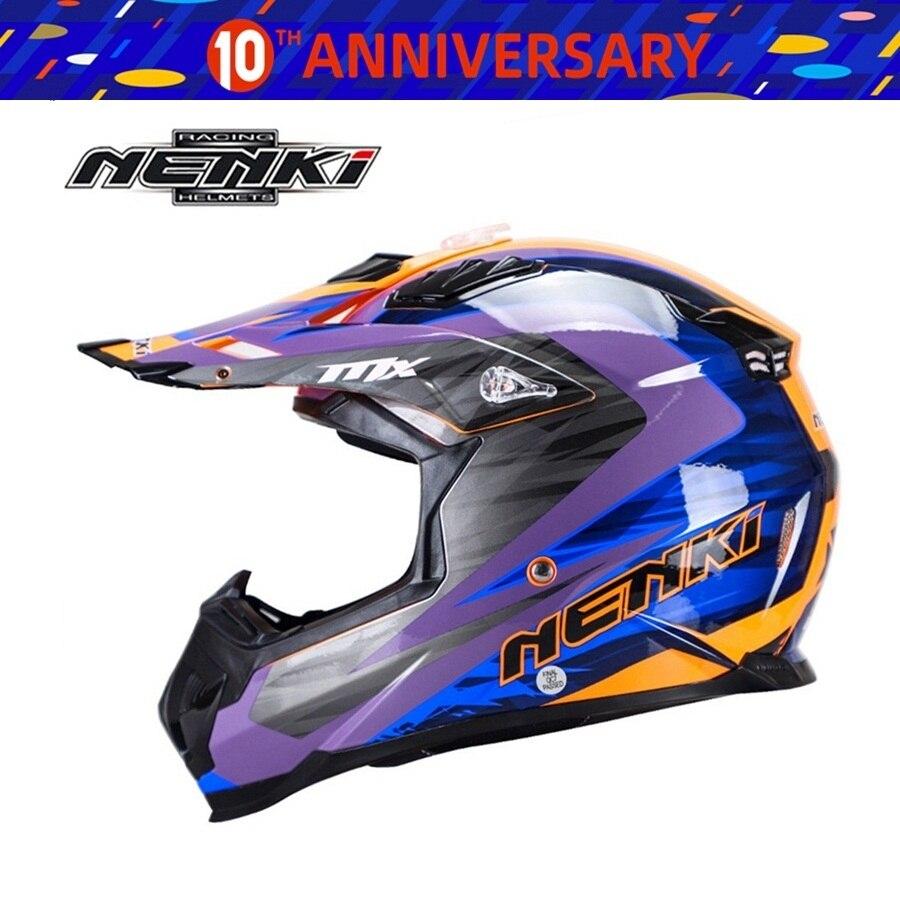 Free shipping 1pcs NENKI Off Road ATV Casco Motorcycle Moto Downhill Motorbike Motocross ABS DOT Helmet Motorcycle Helmet|Helmets| |  - title=