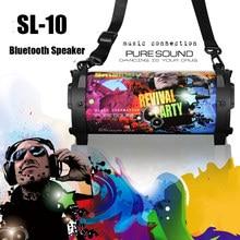 SL-10 portátil bluetooth sem fio ao ar livre alto-falante verdadeiro tws estéreo sem fio bluetooth 5.0 alto-falante música graves profundos