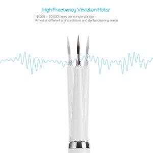 Image 2 - Sonico elettrico di Tartaro Remover Scaler Denti Macchie di Fumo di Rimozione Strumento Dentale Sbiancamento Dei Denti Spazzolino Da Denti 2 Teste della Spazzola