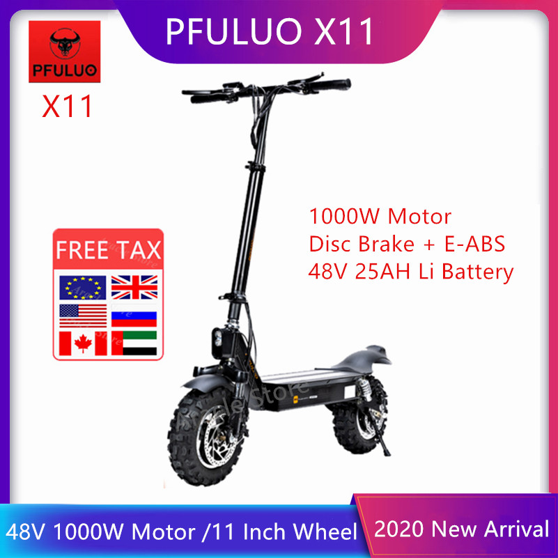 2020 New PFULUO X-11 Smart <font><b>Electric</b></font> <font><b>Scooter</b></font> 48V 1000W <font><b>Motor</b></font> 11 inch <font><b>wheel</b></font> Board hoverboard skateboard 50km/h Max Speed Off-road image