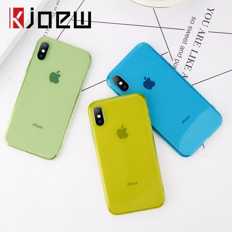 Soft TPU Silicone Phone Case For IPhone 7 6 6S 8 Plus Ultra Thin Transparent The Case For Iphone 7 X XR XS Max Back Cover Cases
