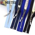 2/5 stücke 3 # Metall Reißverschlüsse Meetee 15-70cm Geschlossen & open Zip für Taschen Geldbörse Brieftasche Schuhe kleidungsstück Zipper Reparatur Nähen Zubehör