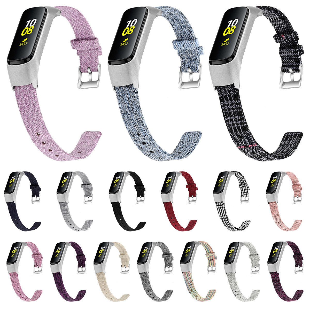 For Xiaomi Mi Band 4 Bracelet Soft Canvas Material Stainless Steel Frame Replaceable Watch Band For Mi Band 3 Strap