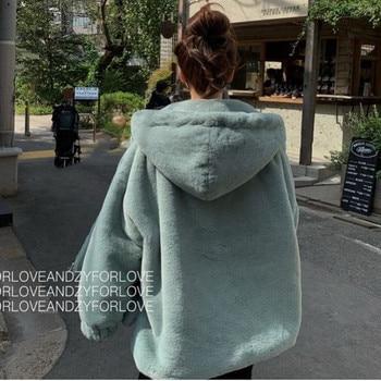 Faux Fox Fur Winter coat with Hoodie 4