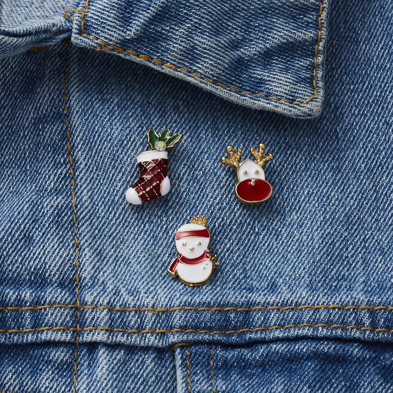 Купить 3 шт/компл веселое рождество броши рождественские носки с рождественским