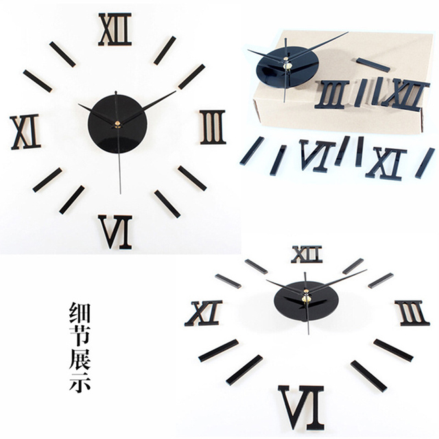 Modern DIY Interior Roman Wall Clock 3