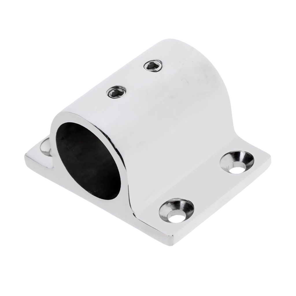 Marine Boat Hand Rail Fitting 90 Degree Stanchion Base Mount For 20mm Tube