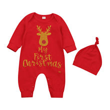 2020 новые зимние Рождество на возраст от 0 до 18 месяцев Одежда