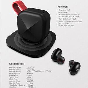 Image 5 - TWS наушники беспроводные вкладыши Bluetooth 5,0 Поддержка Aptx/AAC 45h время воспроизведения для iOS/Android IPX7 водонепроницаемое обновление