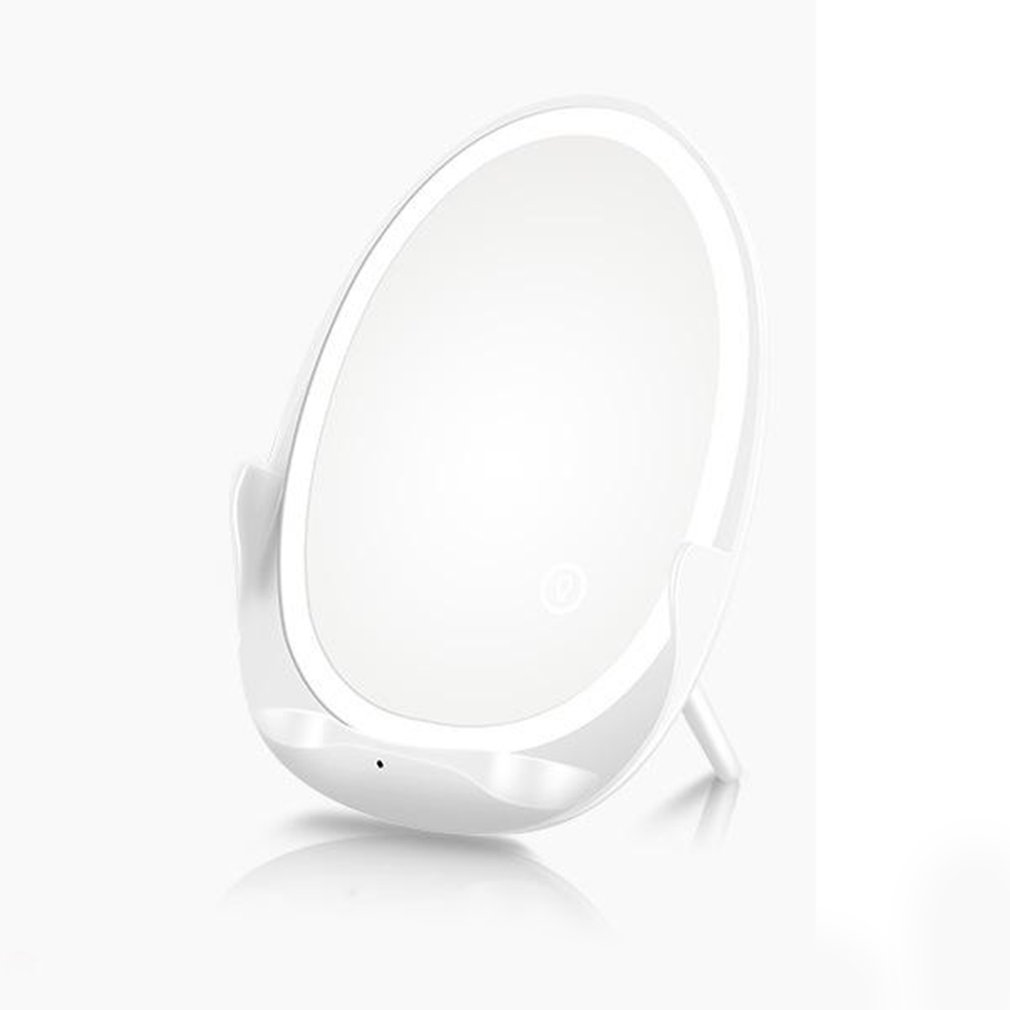 5-In-1 Makeup Mirror LED Lighted Wireless Charger Make Up Mirror Smart Cosmetic Mirror With Cell Phone Stand Vanity Mirror