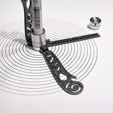 Линейка для рисования портативный универсальный инструмент из нержавеющей стали транспортир круги для рисования Магнитная прямая дуговая линейка; Деревообработка инструменты