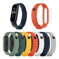 Universal silicone substituição pulseira inteligente para mi banda 6/6 nfc/5/5 nfc hua mi amazfit banda 5 cor pura pulseira ajustável