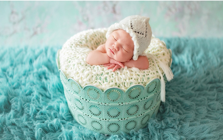 Children's Photography Props Background Studio Baby Photo Bed Baby Shot Iron Studio Newborn Props Basket