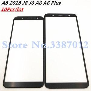 Image 1 - 10 ピース/ロットフロントアウターガラスレンズサムスンギャラクシー A8 2018 J8 J6 A6 A6 プラス A730 A530 J810 J600 a600 A605 (NO LCD) タッチスクリーン