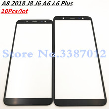 10Pcs/lot Front Outer Glass Lens For Samsung Galaxy A8 2018 J8 J6 A6 A6 Plus A730 A530 J810 J600 A600 A605 (NO LCD) touch Screen