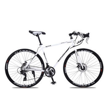 700C Aluminum road bike 21 27 30 speed bend double disc brakes sports bike student bicycle High quality bicycles for adults 1