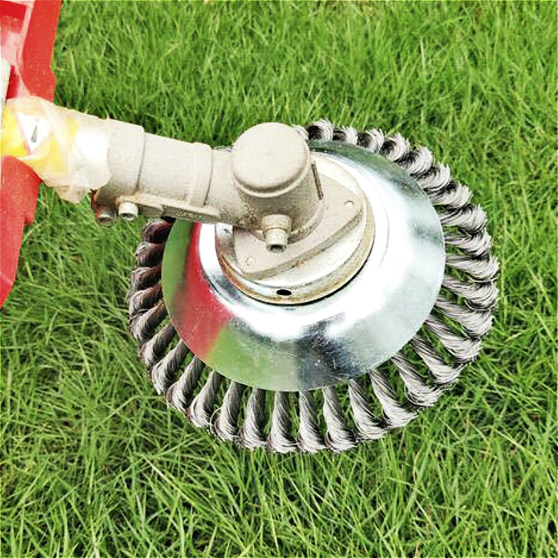 150mm/200mm Steel Wire Trimmer Head Grass Brush Cutter Dust Removal Weeding Plate for Lawnmower Drop shipping Free shipping 2