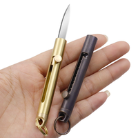 MINI Dispositivo de senderismo, pesca y caza, cuchillo EDC, corte de papel, Arma de autodefensa, llavero con herramientas de seguridad para acampar al aire libre, supervivencia