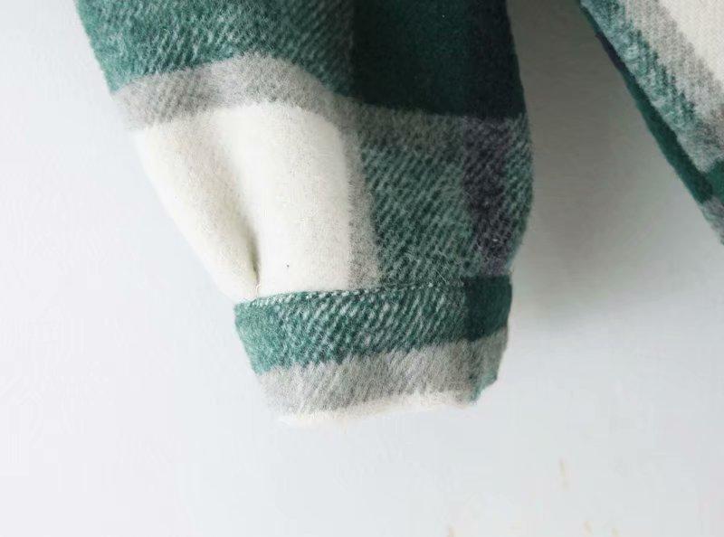 Куртка gypsylady Женская в клетку утепленная Классическая рубашка
