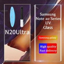 Valam para samsung galaxy note 20 s20 uitra uv vidro líquido cola completa vidro temperado para galaxy note 20 uitra protetor de tela