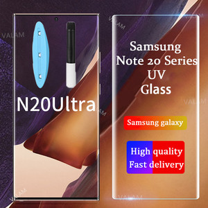 VALAM For Samsung Galaxy Note 20 S20 UItra UV Glass Liquid Full Glue Tempered Glass For Galaxy Note 20 UItra Screen Protector(China)