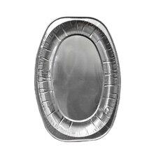 20шт алюминиевая фольга одноразовый сервировочный поднос для посуды сервировочные тарелки Посуда для вечеринок банкетов питание барбекю