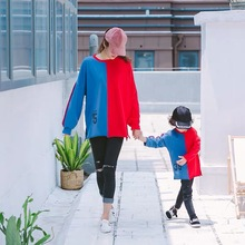 2019 Fashion family matching clothes Full Hoodies mommy and me Letter mom daughter Sweatshirt
