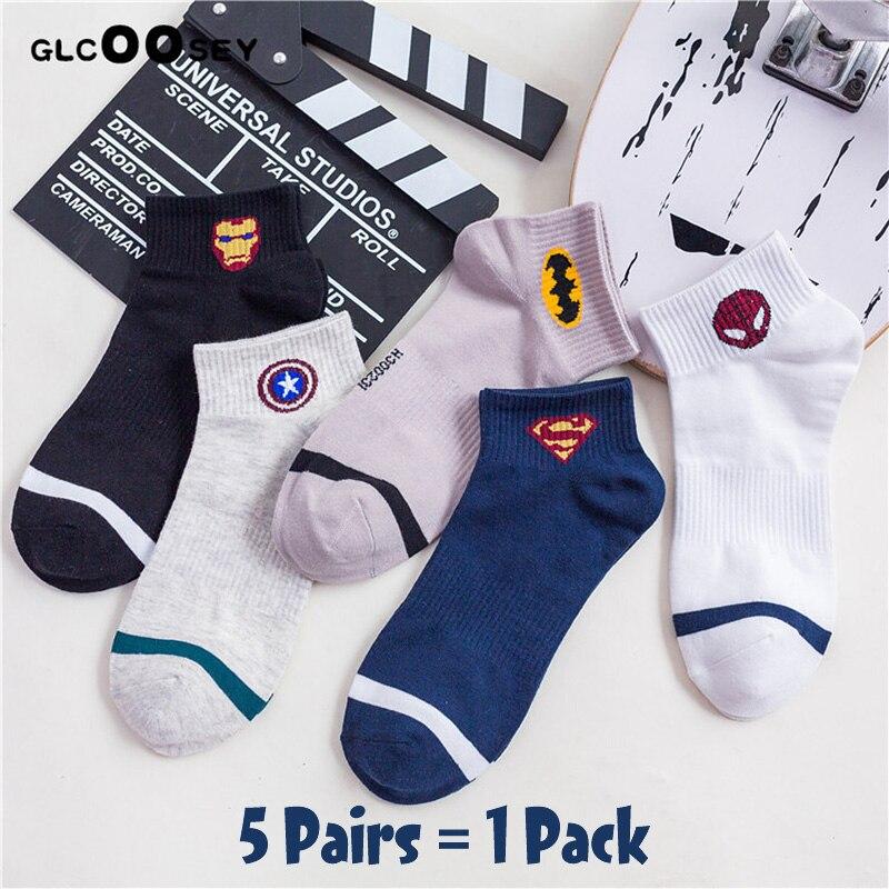 New Comics Heroes General Socks Cartoon Iron Man Captain America High Temperature Stitching Pattern Casual Men's Marvvl Socks