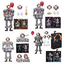 Neca ele pennywise figura capítulo dois final pennywise figura de ação modelo brinquedo horror presente para a boneca de halloween 18cm