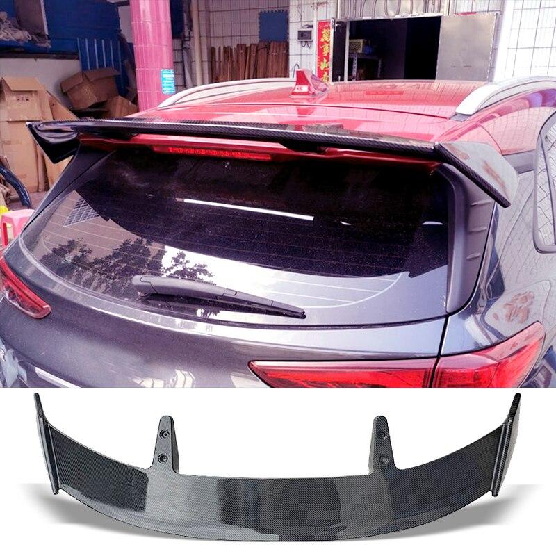 Тип спойлера ДЛЯ багажника TE, карбоновая поверхность, крыло для заднего багажника, ABS-материал, аксессуары для ремонта, спойлер для Hyundai Kona ...
