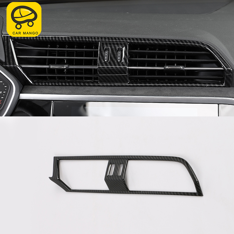 CARMANGO Car Styling A/C Air Vent Outlet Panel Cover Trim Frame Sticker Chrome Interior Accessories for Audi Q3 F3 2019|Automotive Interior Stickers| |  - title=