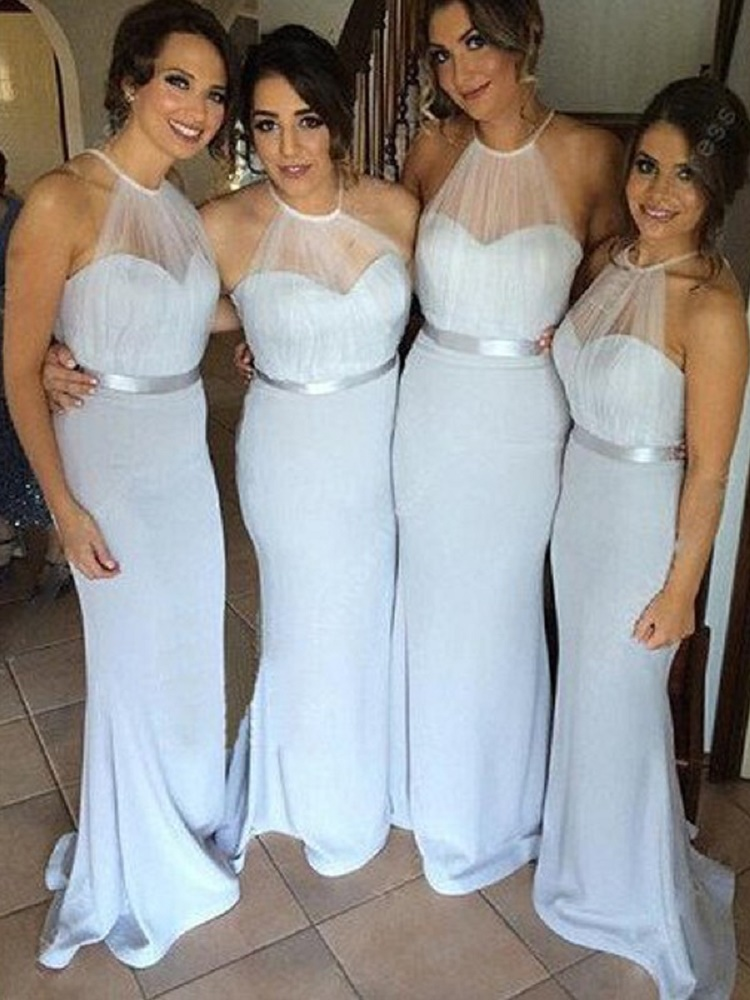 Elegant Mermaid Bridesmaid Dresses Hater Seetheart Sleeveless Floor-Length Bridesmaid Dress For Wedding Party