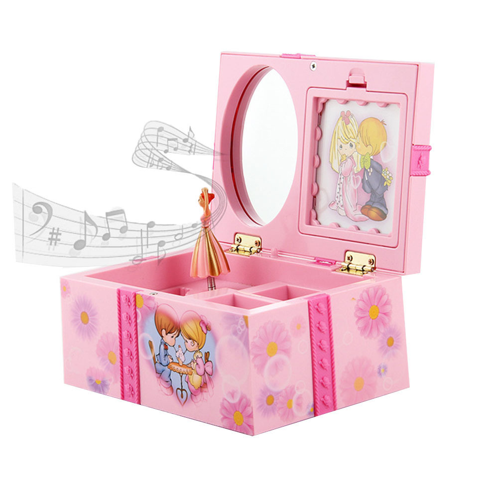 New Music Box Creative Gifts For Kids Clockwork Toy Musical Jewel Case Storage Organizer Creative Gift For Girls