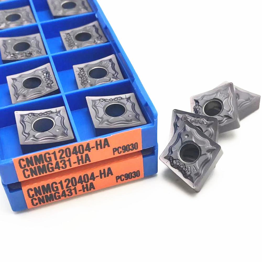 10PCS Carbide Turning Tool <font><b>CNMG120404</b></font> HA PC9030 High Quality CNC Lathe Tool CNMG 120404 Milling Tool External Turning Tool image