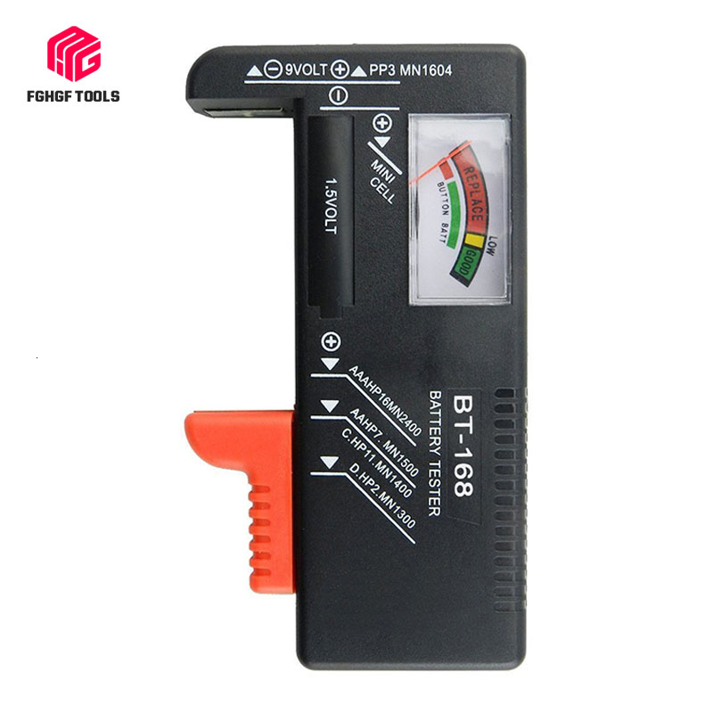 <font><b>BT</b></font> <font><b>168</b></font> Portable Universal Digital Battery capacity Tester Volt Checker For Button Multiple Battery Checker diagnostic tool image